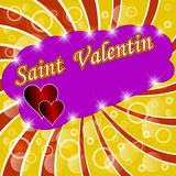 Valentines day design background. Royalty Free Stock Image