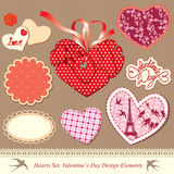 Valentines day design elements Royalty Free Stock Images