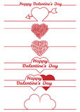Valentines day design elements - dividers Stock Image