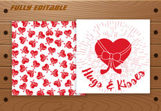 Valentine's Day design elements Royalty Free Stock Photography