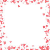 Valentines day design with hearts background stock photography