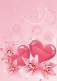 Valentines Day design pink. Stock Images
