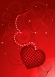 Valentines Day design red. Stock Image
