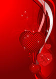 Valentines Day design red. Royalty Free Stock Images