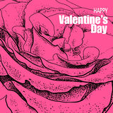 Valentines day design with rose Royalty Free Stock Photo