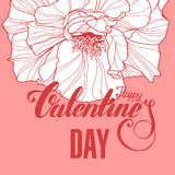Valentines day design with rose Stock Photo