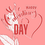 Valentines day design with rose Royalty Free Stock Photography