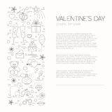Valentines day design template. Graphic elements with hearts Royalty Free Stock Image