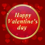 Valentines Day Design. Template of invitation, poster or greeting card. Illustration Royalty Free Stock Photos