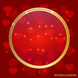 Vector Illustration of a Valentines Day Card. Stock Image