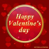 Valentines Day Design. Template of invitation, poster or greeting card. Vector illustration Stock Photography