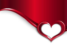 Valentines Day Design. Vector Metal Background With Wave And Frame of Heart For Your Text Royalty Free Stock Images