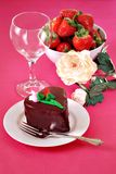 Valentines day dessert Royalty Free Stock Images