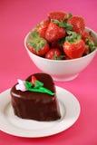 Valentines day dessert Royalty Free Stock Photos