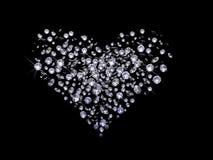 Valentines Day diamonds Royalty Free Stock Photos