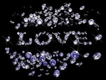 Valentines Day diamonds Stock Photography