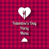 Valentines Day Dinner Menu card Stock Photo