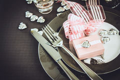 Valentines day dinner Royalty Free Stock Images