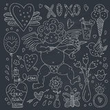 Valentines Day Doodle Collection Royalty Free Stock Images