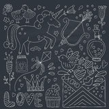 Valentines Day Doodle Collection Stock Photo