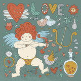 Valentines Day Doodle Collection Royalty Free Stock Photography