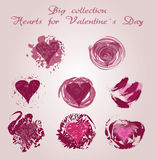 Valentines day, doodle hearts Royalty Free Stock Image