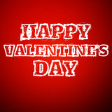 Valentines day draw text Stock Image