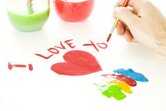 Valentines Day Drawing Stock Photography