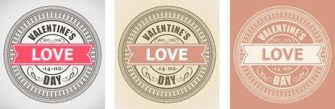 Valentines Day Element For Design, Label Royalty Free Stock Image