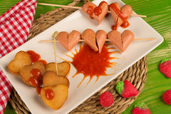 Valentines Day fast food royalty free stock photos