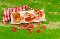 Valentines Day fast food stock image