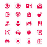 Valentines day flat icons Stock Photos