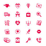Valentines day flat icons Stock Image