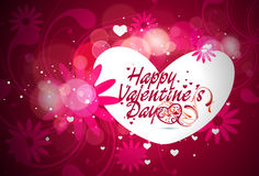 Valentines day floral background Royalty Free Stock Image