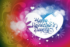 Valentines day floral background Royalty Free Stock Photography