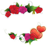 Valentines Day floral frame Royalty Free Stock Photo