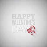 Valentines day flower on gray design background Stock Photo