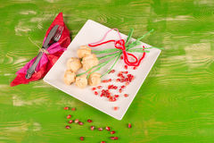 Valentines day flower snack Stock Photography