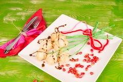 Valentines day flower snack stock image