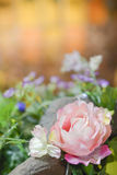 Valentines day. Flowers and Valentines Day background Stock Photography