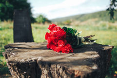 Valentines day . flowers , rings and wedding decor. romantic din. Ner outdoors Stock Photography