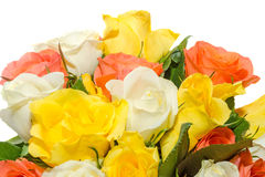 Valentines day flowers with white, orange, red and yellow roses flowers. Stock Images