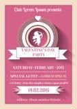 Valentines day flyer Stock Photo