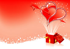 Valentines Day frame Stock Image