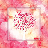 Valentines day frame Royalty Free Stock Photos