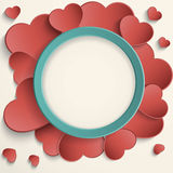 Valentines Day frame Stock Images