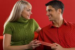 Valentines day gift Royalty Free Stock Photography