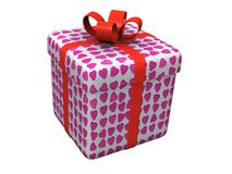 Valentines day gift. Isolated valentines day gift box Stock Images
