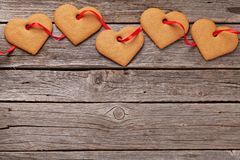Valentines day gift box with heart cookies Royalty Free Stock Photography