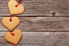 Valentines day gift box with heart cookies Stock Images